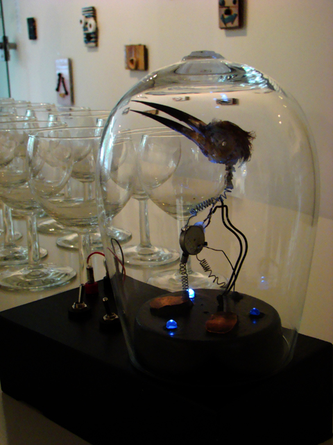 small kinetic bird sculpture kinetic artist zwanikken